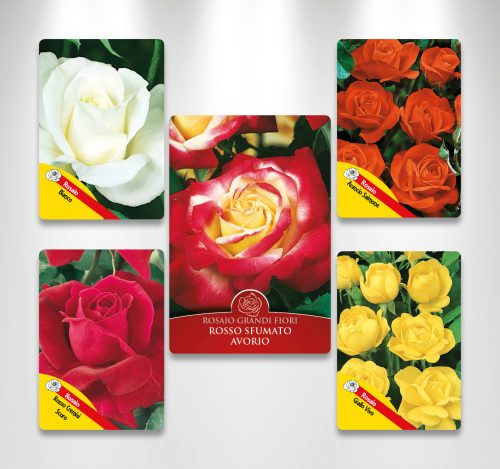 Etichette fustellate per rose